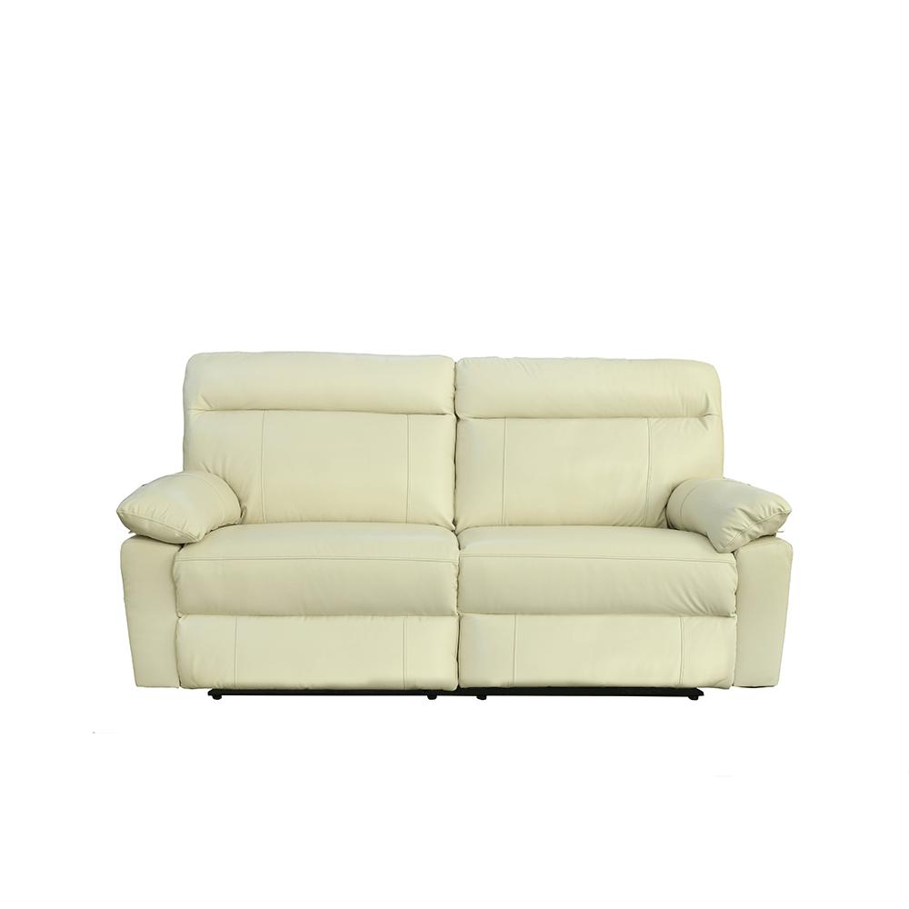 Sof venica piel blanco 3 plazas el hogar del descanso - Sofa piel blanco ...