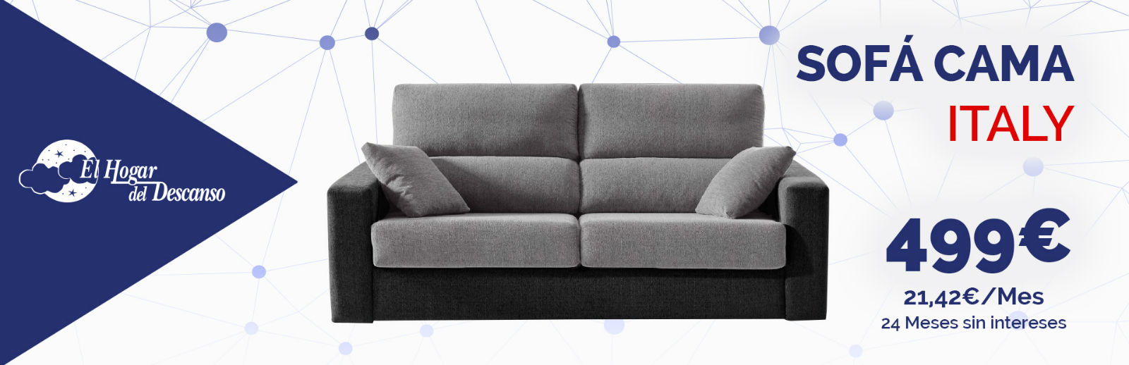 Colch n flex y sof cama apertura italiana tiendas de for Colchones para sofa cama dos plazas