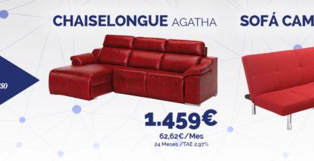 Chaiselongue y sofá cama