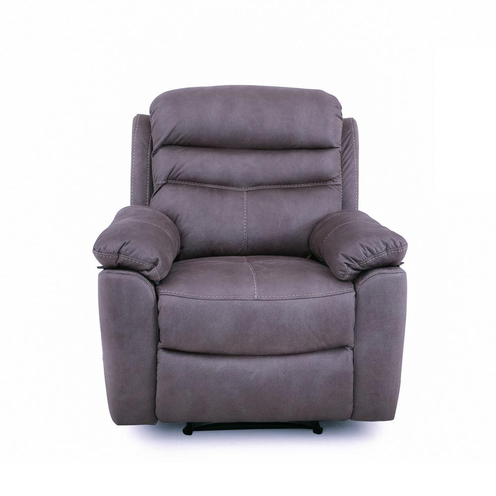El hogar del descanso 86 sillon relax manual tela gris for Sillon relax de tela