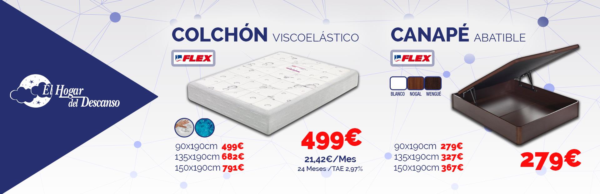 Colch n y canap flex promociones flex almer a el hogar for Colchon y canape