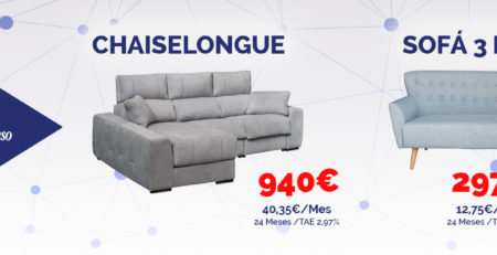 Promociones chaiselongues y sofás