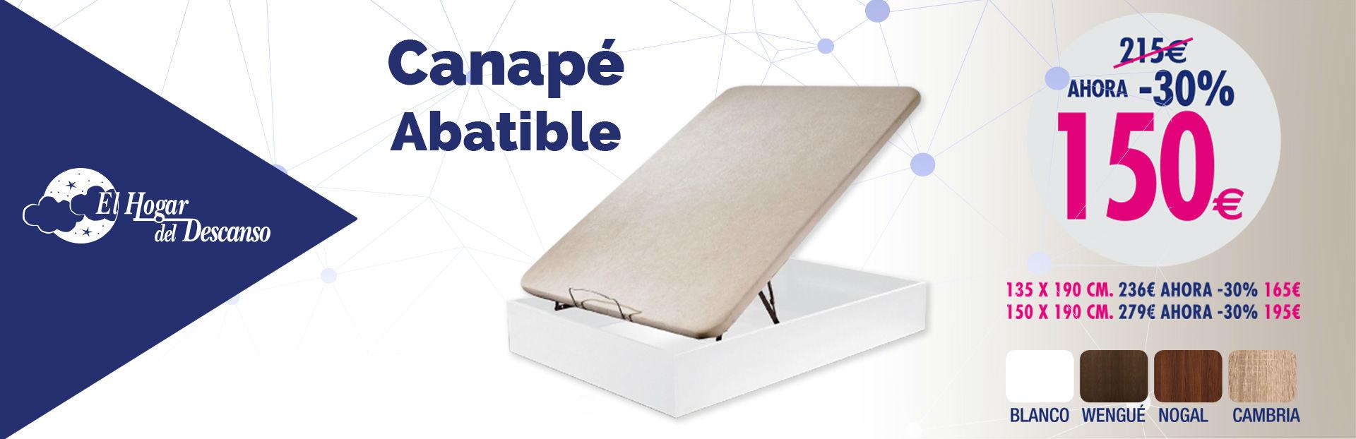 Promociones colchones colchones baratos chaiselongue sof for Comprar canape abatible barato